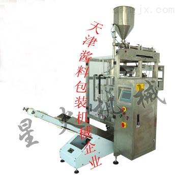 天津包装机|天津辣椒酱包装机—立式全自动酱料包装机