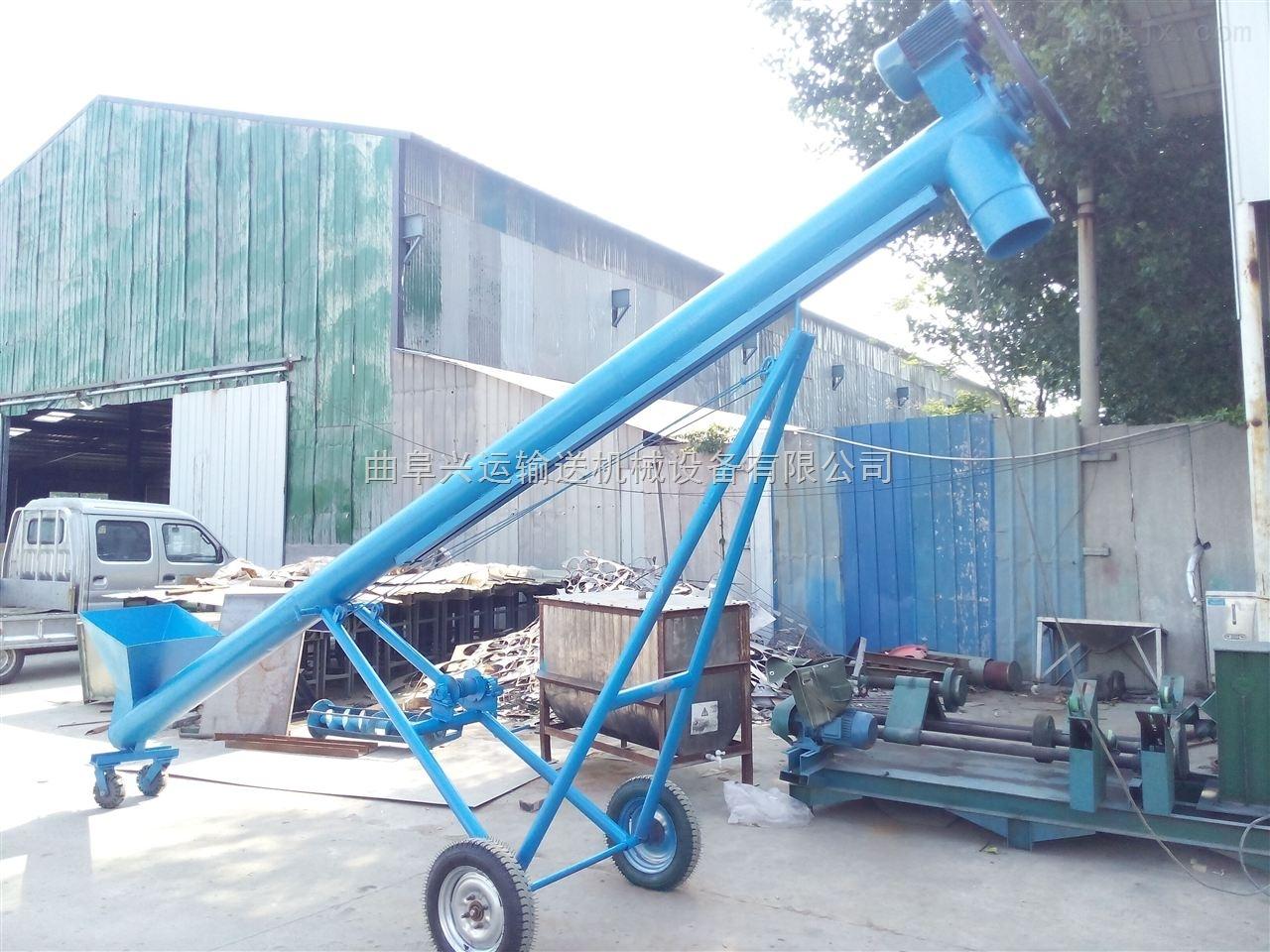 50管径泥沙输送用提升机,链条带动电动上料机
